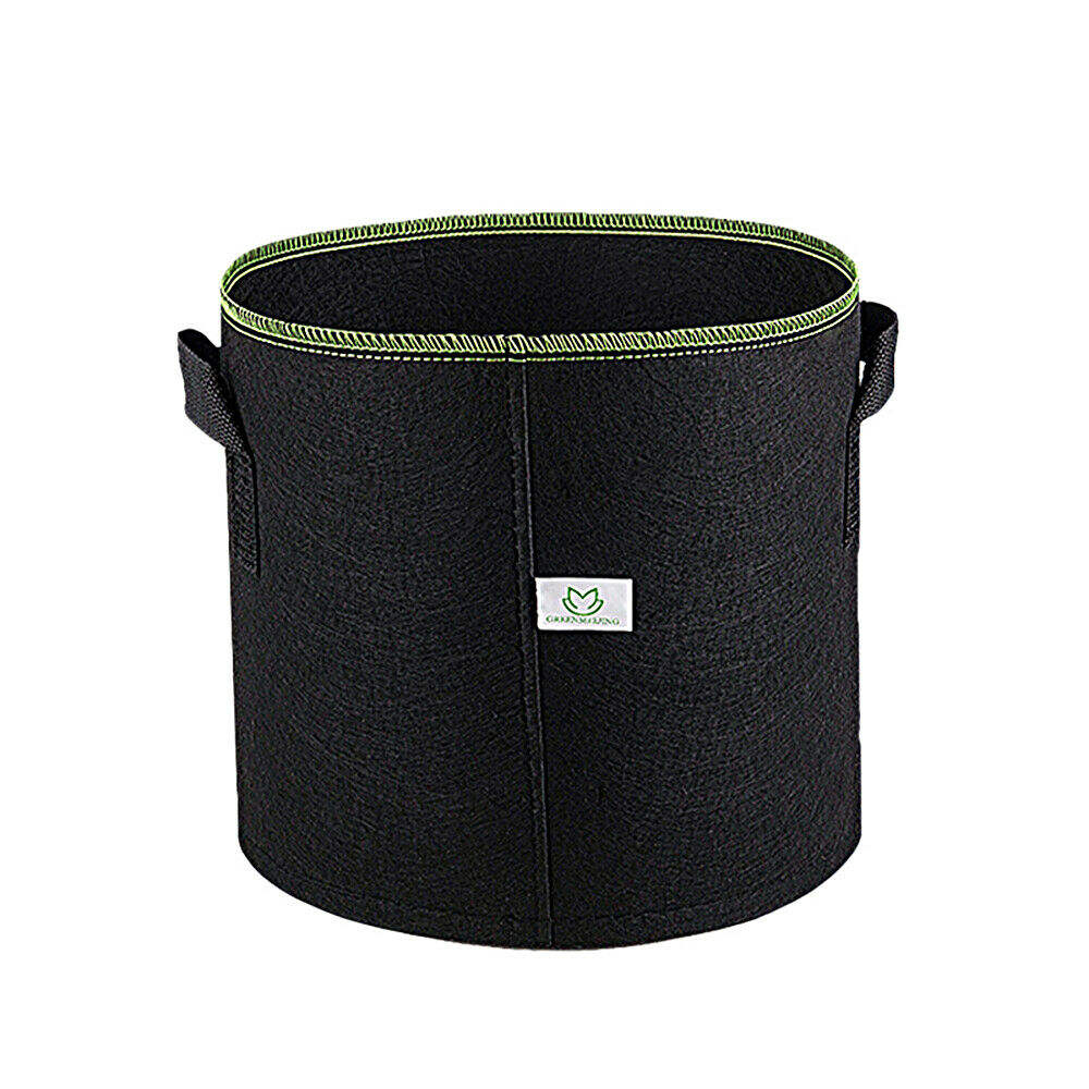 1/2/3 / 5 / 7 / 10 / 15 / 20 / 25 / 40 / 50/75/100 Gallon Felt Fabric Smart Pot Grow Bag for trees and flowers