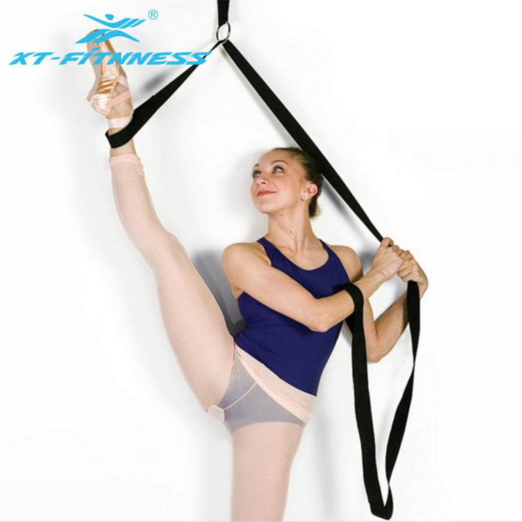 Yoga Dance Exercise Resistance Stretch Strap Bands with door ankle