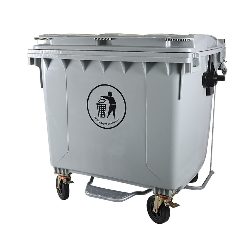 660l bin garbage 1100l rear loading trash can trash bin