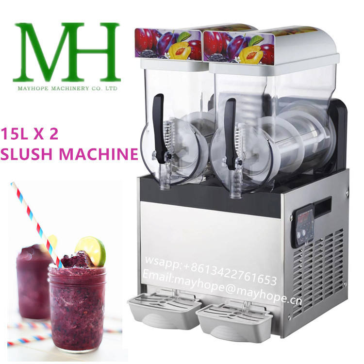 MAYHOPE Restaurant Frozen Drink Beverage Machine Commercial Slush Machine Slushie Machine
