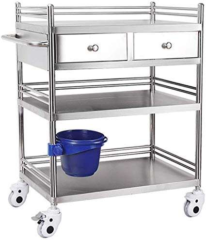 Medical Trolley Stainless Steel Assemble Small Surgical Cart Rescue Instrument Change Vehicles