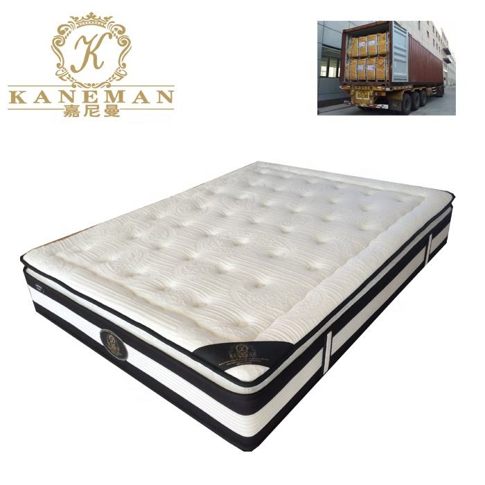 Wholesale Cheap Price Pillow Top Vacuum packed Compressed Continuous Spring Mattress with pallet package