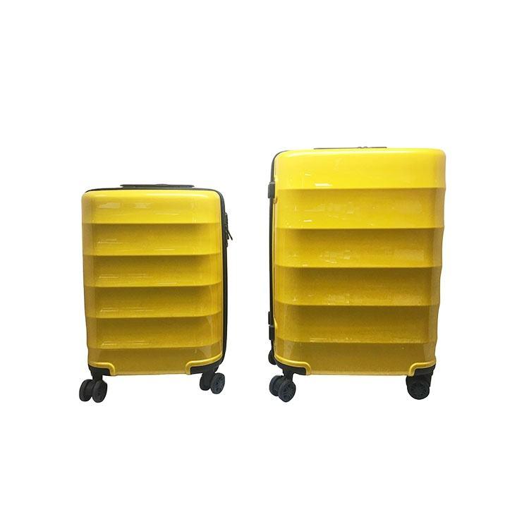 Estilo de <span class=keywords><strong>moda</strong></span> al aire libre maleta amarilla aeropuerto Hardshell Pc <span class=keywords><strong>equipaje</strong></span> de viaje conjunto
