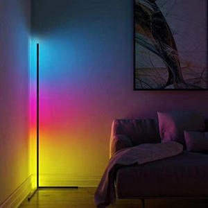 2020 Amazon Hot Koop Zwart Minimal Statief Rgb Floor Stand Lamp