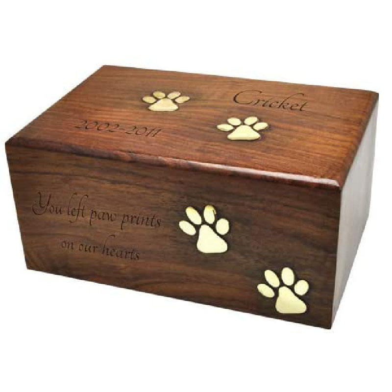 Manufacturer custom solid wood dog cat ash box, wooden photo box, solid wood box for pets