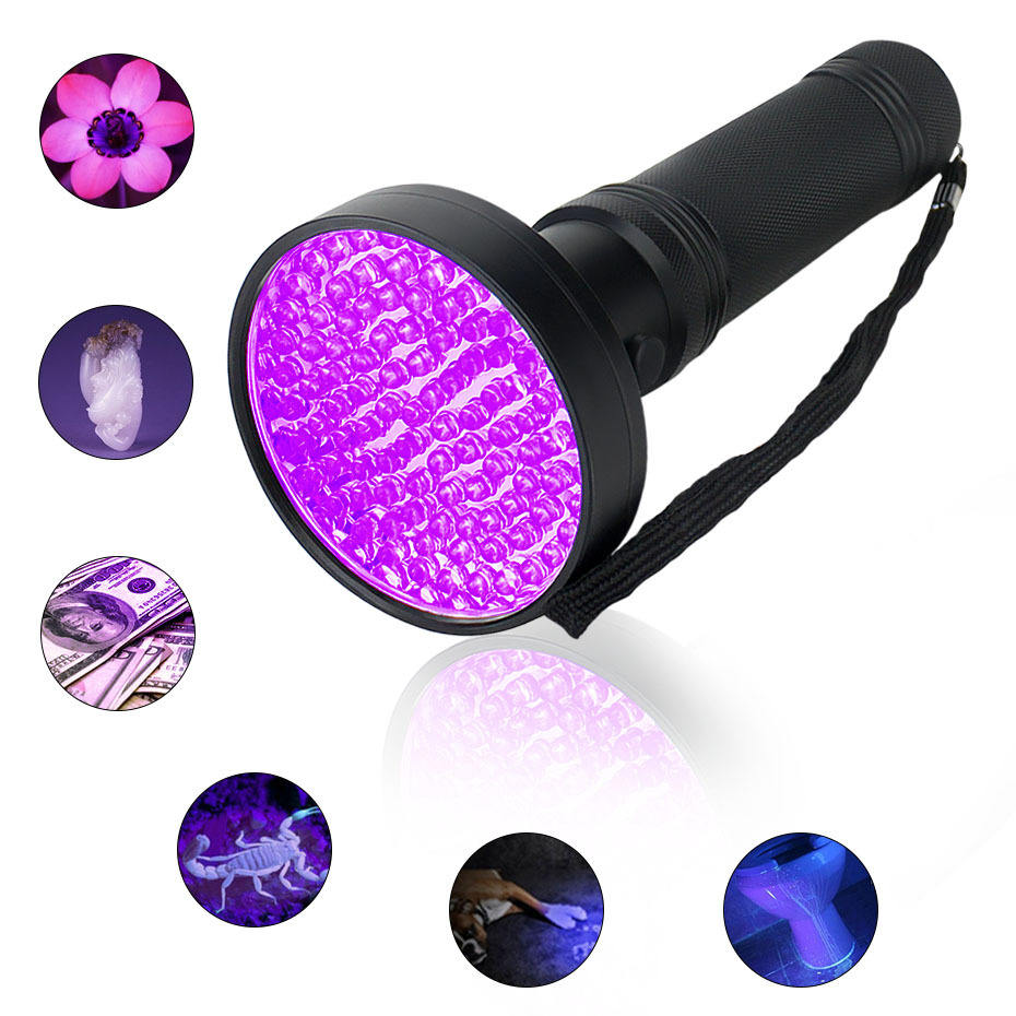 100 LED UV Blacklight Flashlight 395Nm UV Torch Pet Urine Detector for Dog/Cat,Hunting Scorpions,Search for Bed Bugs