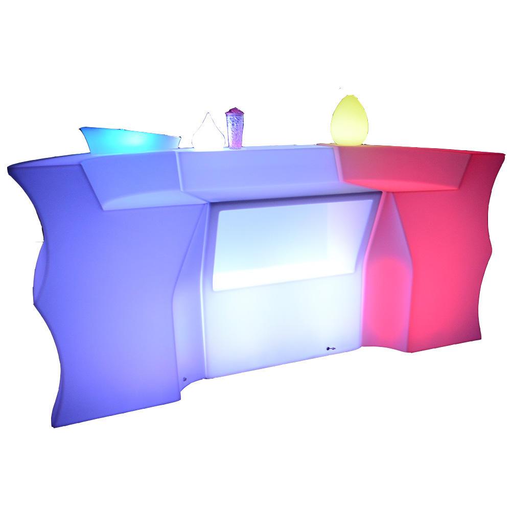 글로우 led 모바일 바 카운터 led 휴대용 바 카운터 조명 이동식 led 가구 세트 파티 이벤트 웨딩
