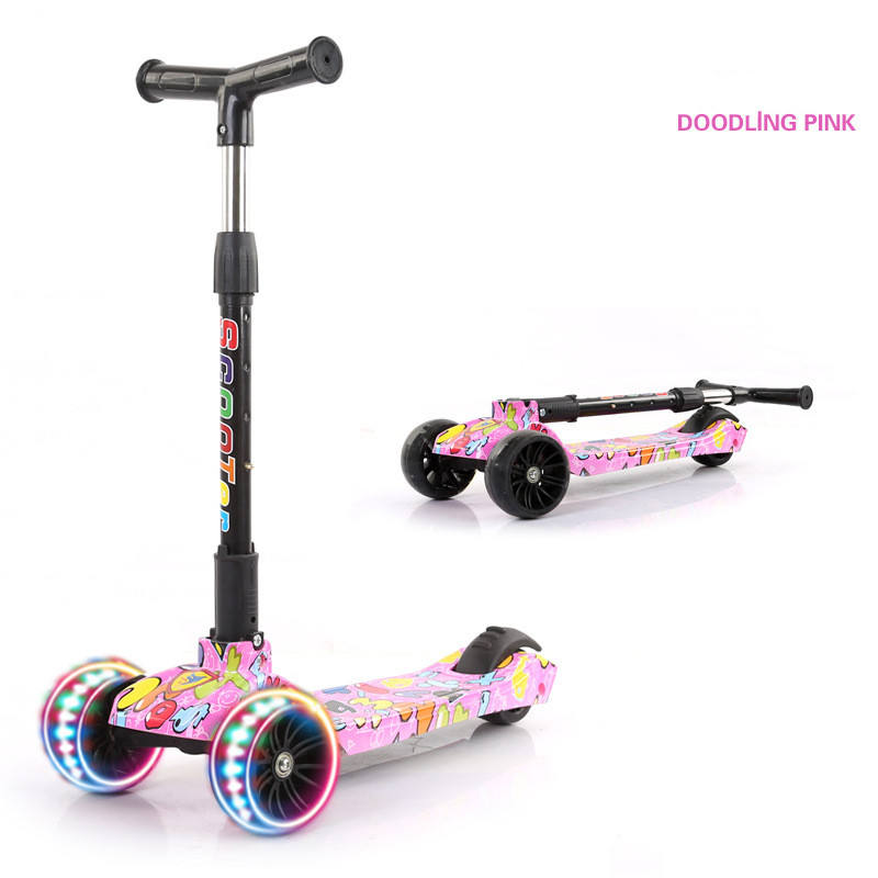 Wholesale 2020 china baby child children's balancing cheap skating kick scooter 3 wheels for kids for sale with led light
