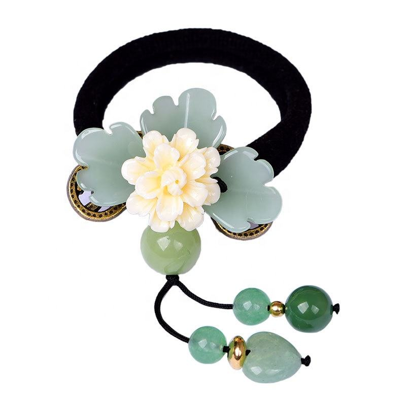 2020 national characteristics classical hair band rubber jade hair band accessories for women