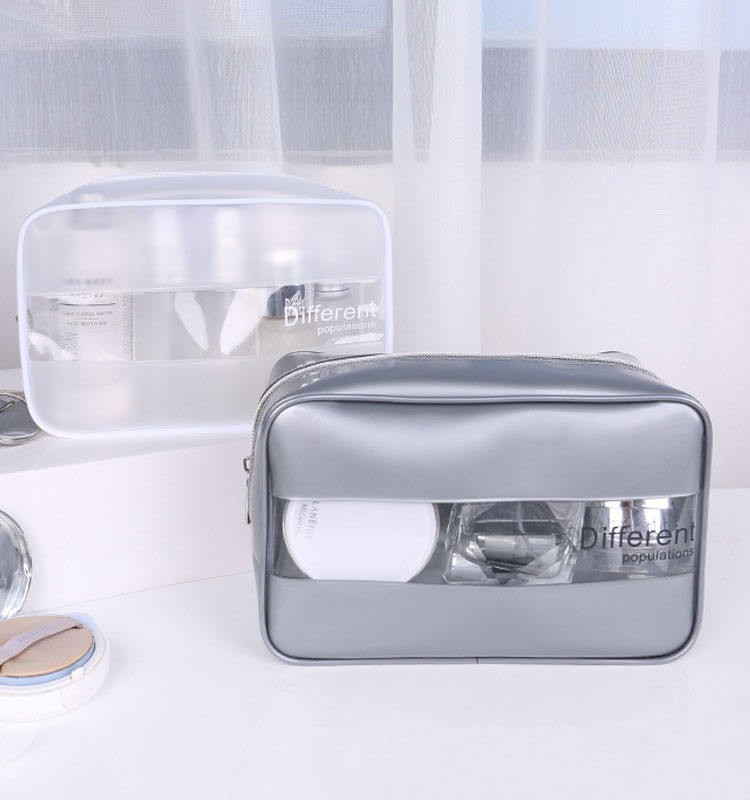 Private label plush transparent vanity EVA PVC brush makeup bag