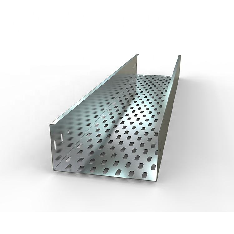 Price favorable galvanized metal steel cable tray perforated standard size 3000x200x100x1.5mm without cover