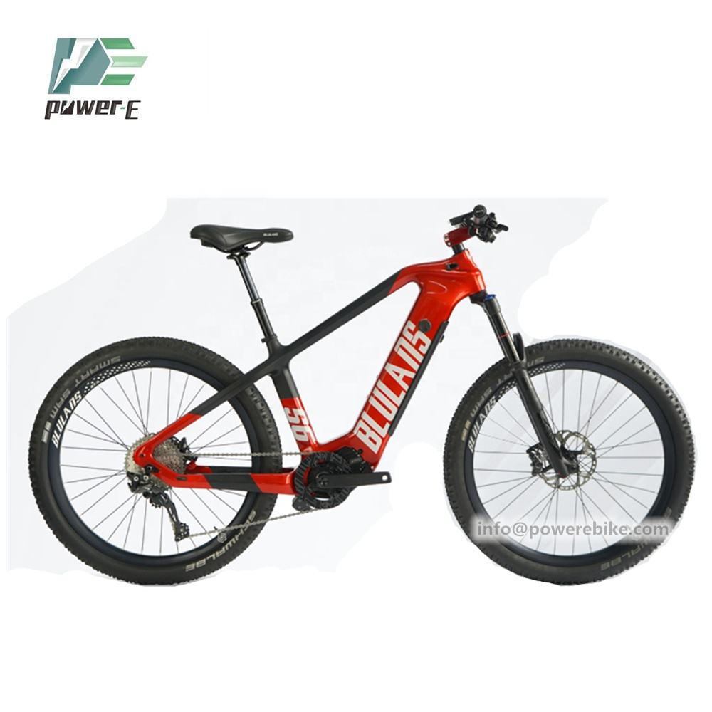 Top Brand 36V 16Ah Bafang M600 Mid Drive Electric Bike Mountain 27.5 Inch Ebike Carbon Fiber Frame 36V 16Ah Panasonic Battery