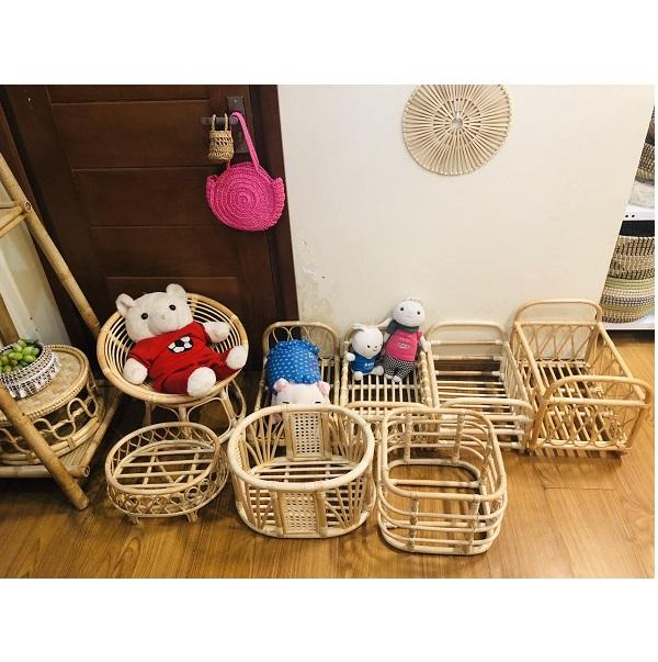 Wholesale rattan baby doll bed/toys