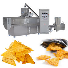 Doritos extruder production line nachos chips processing line fried snacks tortilla making machine