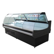Fresh meat display curved glass showcase Deli case/supermarket refrigerator