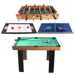 4 In 1 Multi Sport Game Tafel, Goed Gemaakt Vouwen Biljart, Air Hockey, mini Ping Pang, Voetbal