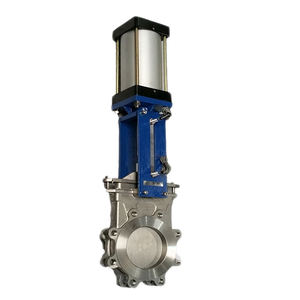 lug type stainless steel pneumatic knife gate valve