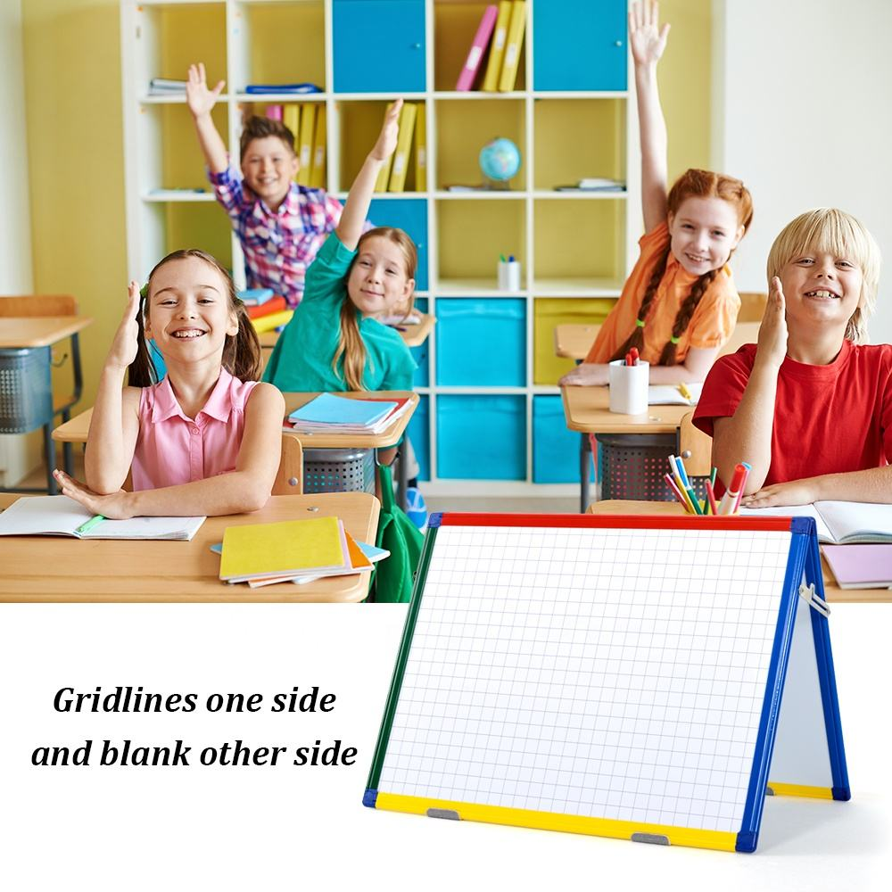Hot Sale Double Side A2 Magnetic Whiteboard Wall Dry Wipe Erase Boards Planning Board with Girid