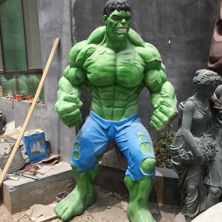 cartoon figure the hulk statue bronze