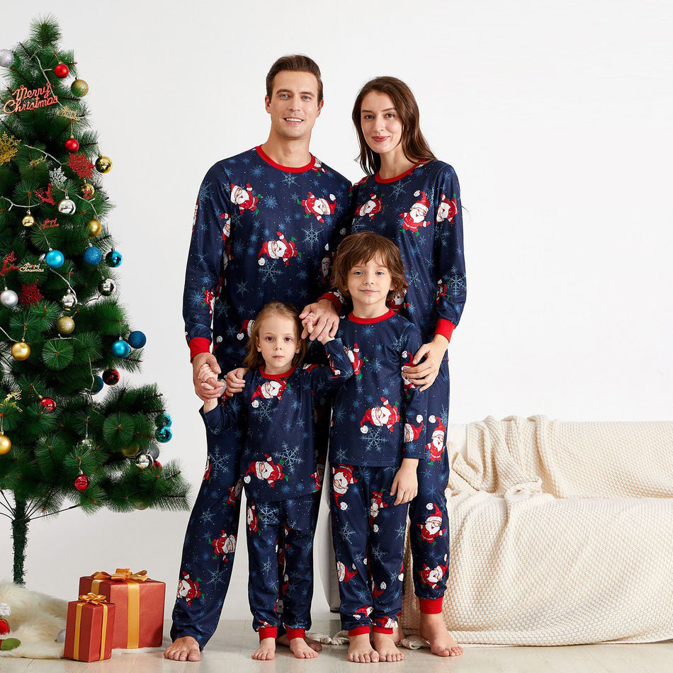 Lounge Wear Kid Home Clothes Women Pijama De Navidad Azul Baby Onesie Men Pyjama Cotton Sleepwear Family Pajama For Christmas