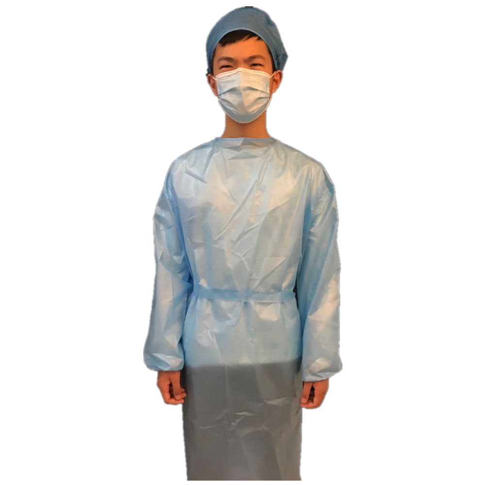pink isolation gown fda protection aami level 4 plastic with pe coating pp pe surgical non-woven surgical gowns