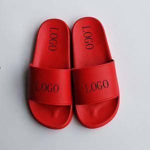 China wholesale plain custom sandal slide,custom logo pvc slide sandal slipper red slide sandal men