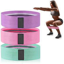2020 Hot Sale OEM Customizable Gym Home Yoga Pilates Fitness Equipment Fabric Exercise Resistance Training Band Loops Sets