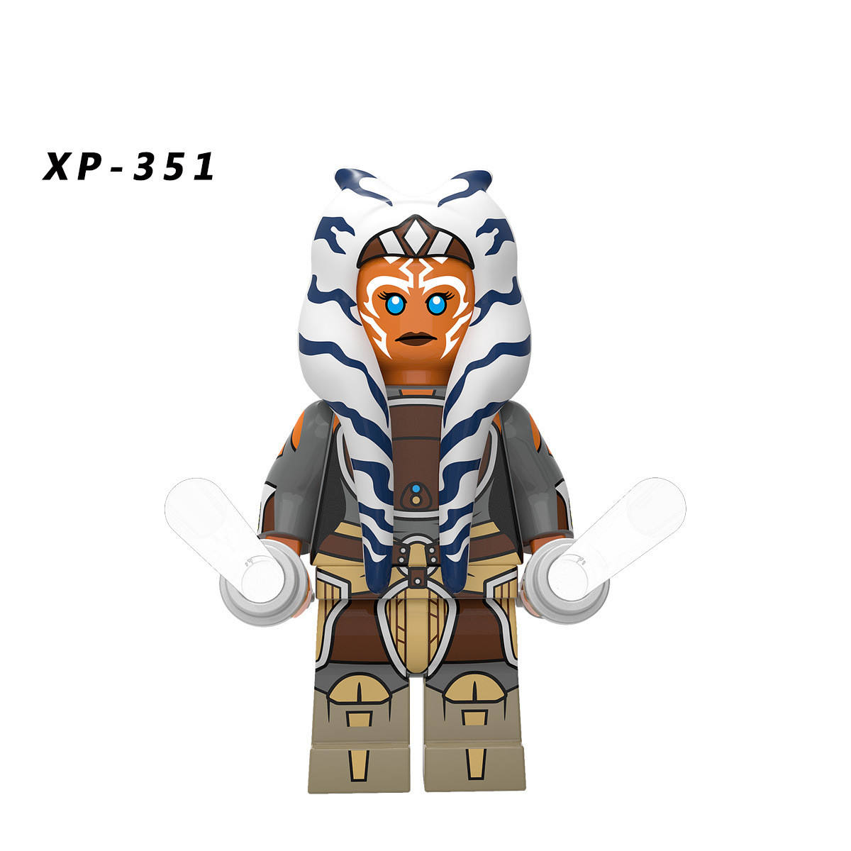 Xp354スターコレクションahsoka tano with transparent lightsaber reaper bocatan building blocks mini action figures wars kids toys