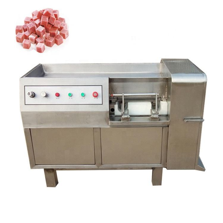 Electric Industrial Beef Dicer / Diced Frozen Meat Cutting Machine