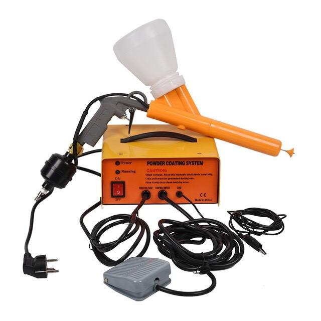 Portable powder coating machine electrostatic paint spray gun