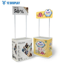 High Quality Exhibition Portable Decorative Advertising Display Promotion Counter Booth