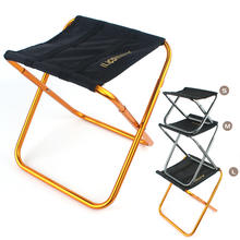 Portable Aluminum Alloy Fishing Chair Hiking stool seat BBQ Camping Chairs Folding Ultralight Outdoor furniture