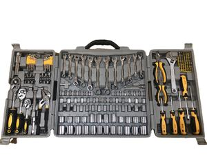 205pcs hot sale hand tool set box, completed household tool kit, car mechanics tools