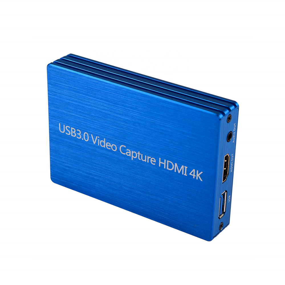 Tarjeta de captura de juegos HDMI captura de vídeo HD 1080P HDMI grabadora de vídeo Compatible con Xbox One/PS4/Wii U/Nintendo Switch, etc.