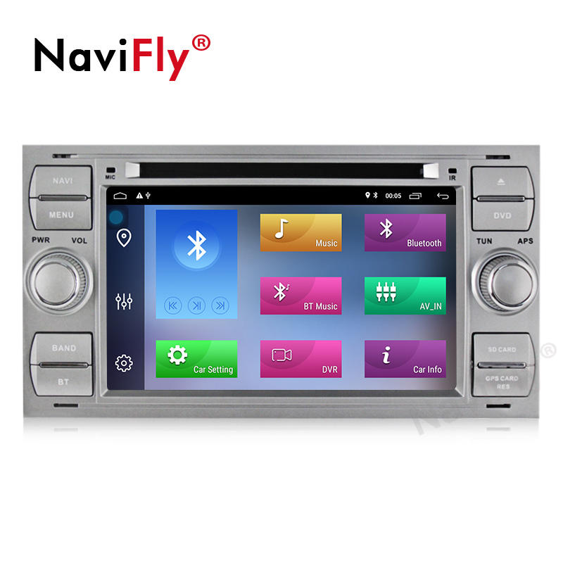 "Navifly 7 ""Android 10 Quad Core Auto <span class=keywords><strong>DVD</strong></span>-Player für Ford Focus 2 Mondeo S MAX C MAX Galaxy Fiesta Fusion Connect"