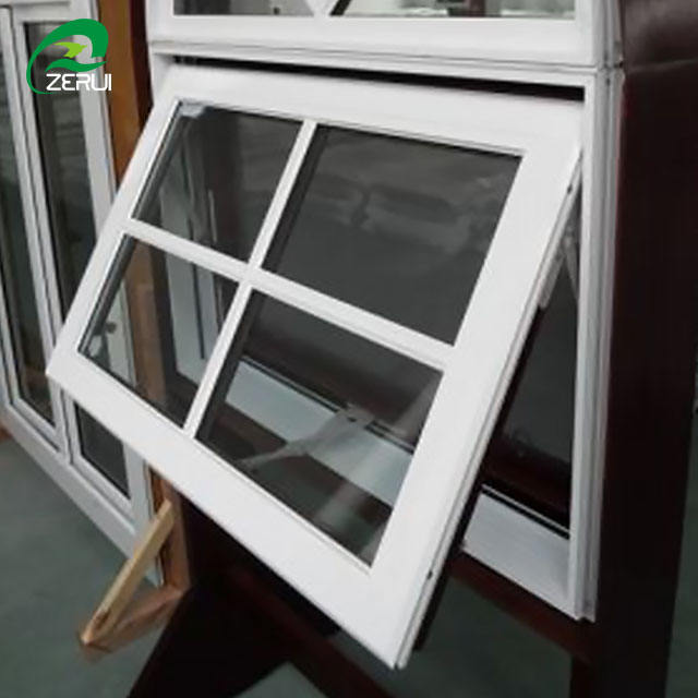 Chinese Brand profile Vinyl hurricane impact upvc Awning windows