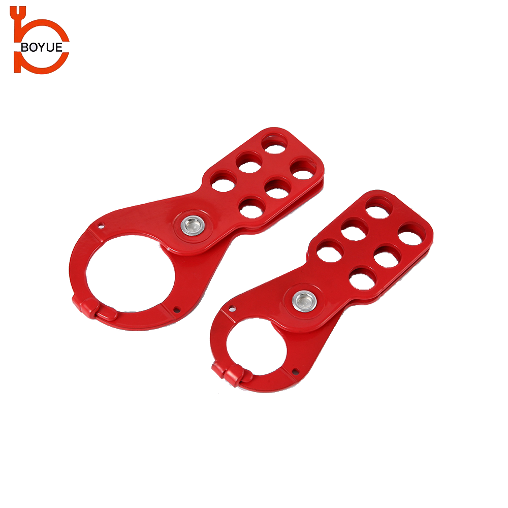 Boyue Factory Economic Steel Safety Lockout Hasp Lock With Tap Size: 25mm and 38mm