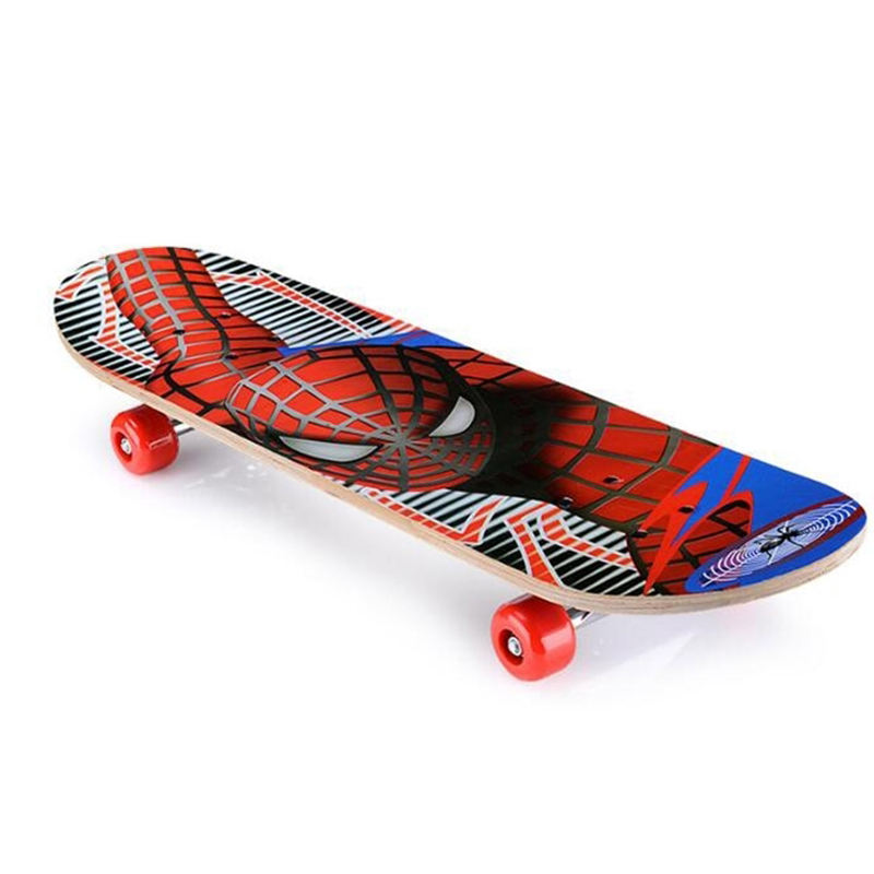 60*15cm Doppel Rocker Spiderman Longboard Cartoon Childern Skateboard Marple Kind Skate Bord Skateboard Kinder Skateboard