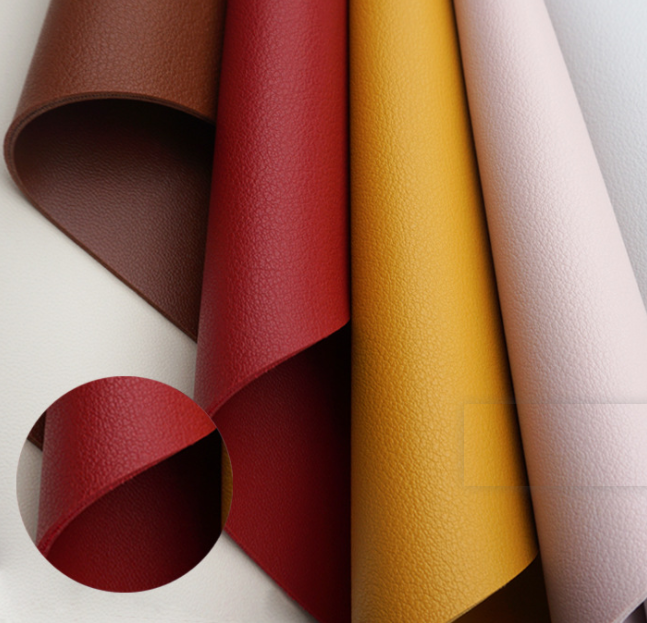 Pvc imitation leather pvc artificial leather with both side for bags