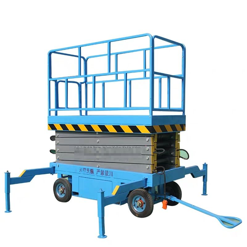 For Windows Cleaning 20 Meter High Rise Working Outdoor Scissor Lift Platform