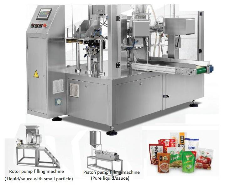Automatic Tomato Peanut Paste Sauce Soup Liquid Pouch Packaging Machine