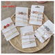 Crystal set hairpin edge clip fringe clip combination of pearl hair clip