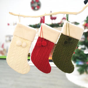 2021 Holiday Gift Bags Xmas Tree Ornaments Christmas Decorations Knitted Christmas Stockings