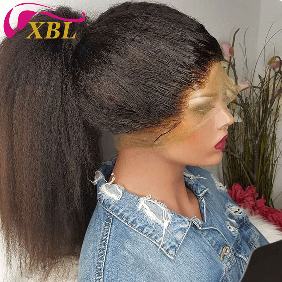 XBL transparent long afro kinky human hair wig,hot selling human hair wigs for sale,100% Natural human hair wigs for black women
