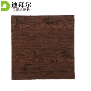 Exterior sandwich wall panel 16mm Wooden color PU foam cladding wall artificial panels