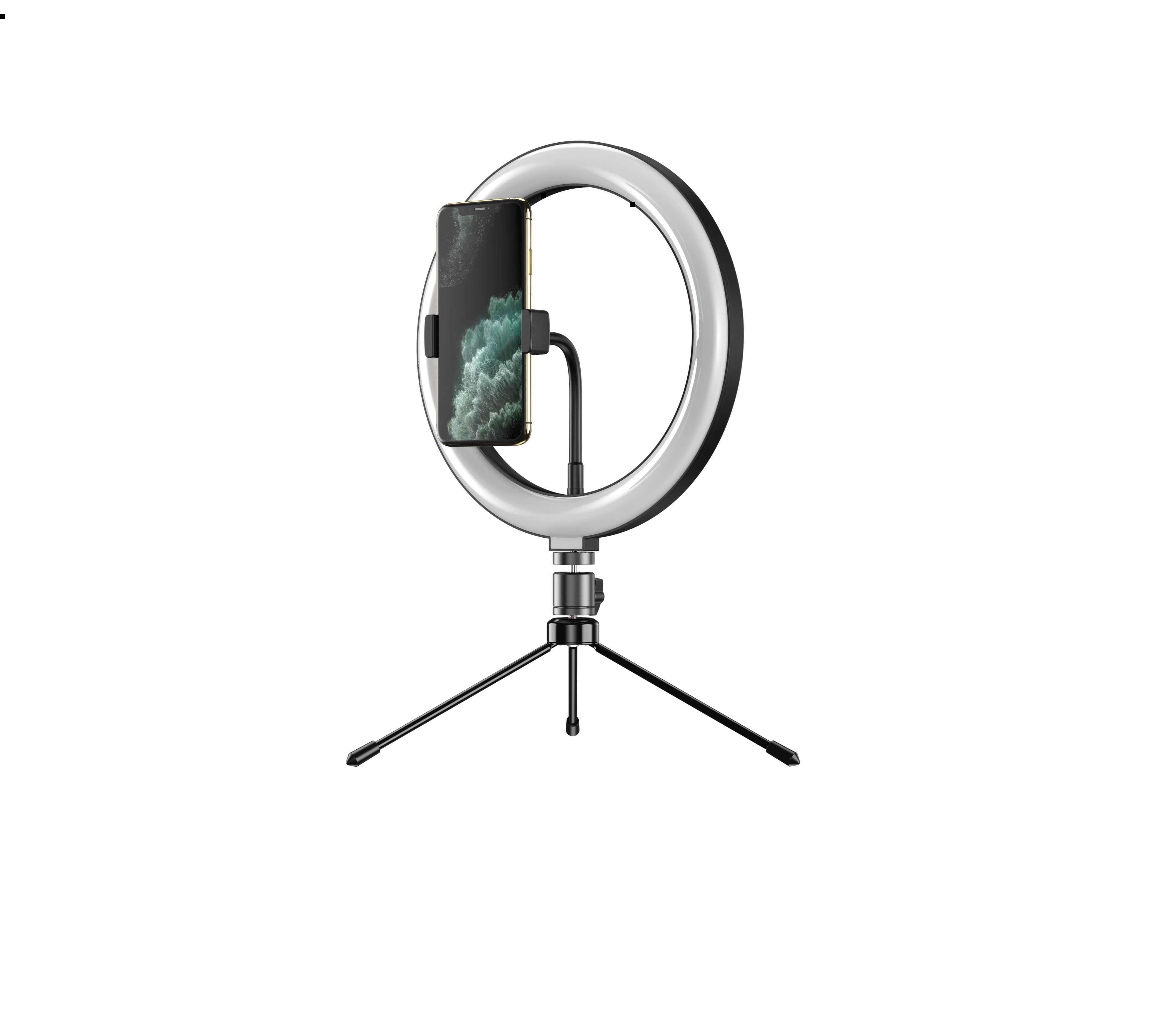 Apexel Professional Ring Light Dimmable10 inch LED Selfie Fill Light with Tripod Stand & Phone Holder for Live Stream/Makeup