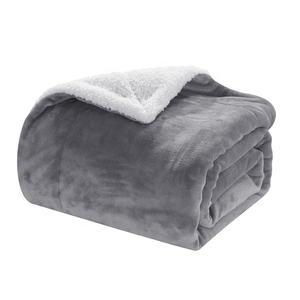 Cheap price premium quality thick coral fleece sherpa blanket