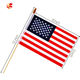 Factory Direct Sales Custom Printing Polyester hand American Flags On Sticks With Wooden Rod