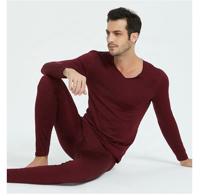 Direct manufacturers selling solid color high quality thermal underwear winter thermal underwear