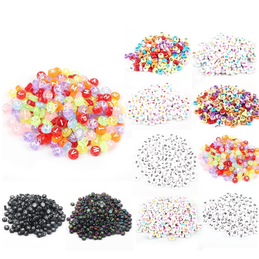 Mixed Acrylic Plastic Beads Alphabet Letter Beads for Jewelry Making Handmade Diy Bracelet Necklace